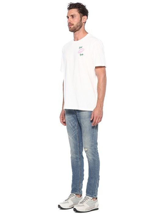 Rex Straight Skinny Fit Lacivert Jean Pantolon