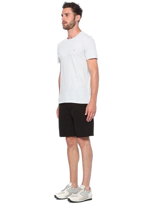 Spatium Mavi Çizgili Basic T-shirt