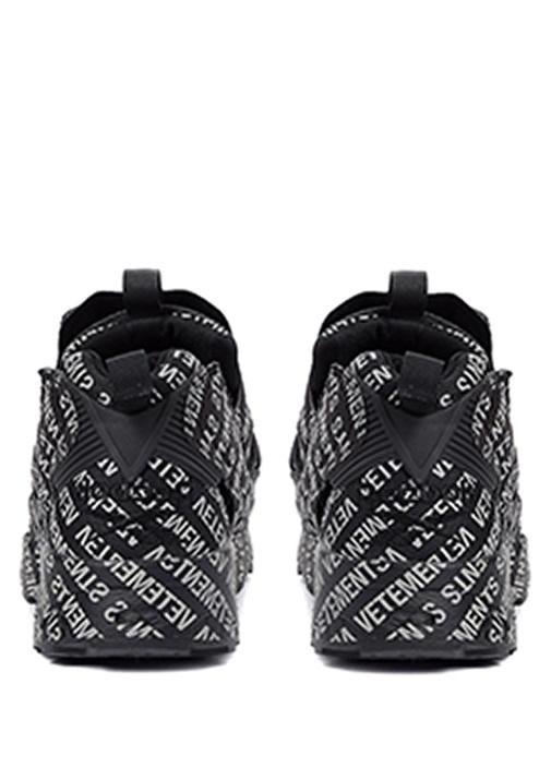 Monogram Siyah Beyaz Logo Baskılı ErkekSneaker