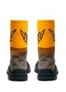 Metal Kahverengi Logo Jakarlı Erkek Çorap Sneaker