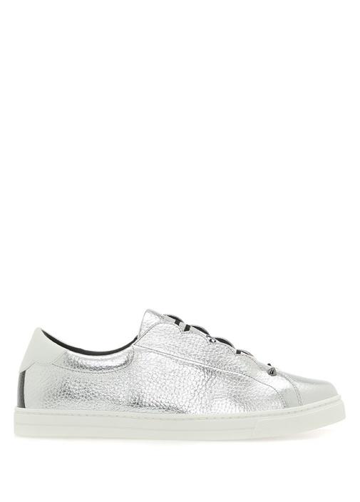 Silver Lastik Detaylı Kadın Deri Sneaker