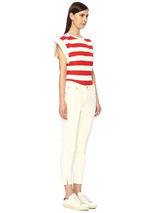 Tate Beyaz Yüksek Bel Skinny Jean Pantolon