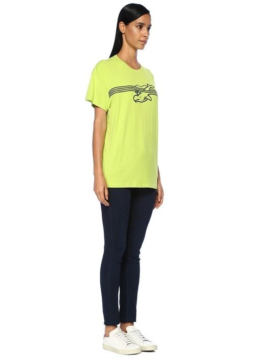 Yeşil Balina Baskılı T-shirt