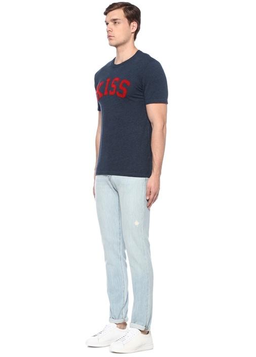 Tommy Chine Kiss Lacivert Baskılı T-shirt