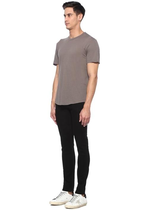 Gri Bisiklet Yaka Basic T-shirt