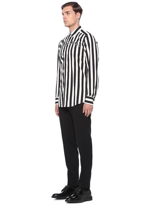 Siyah Normal Bel Boru Paça Pantolon