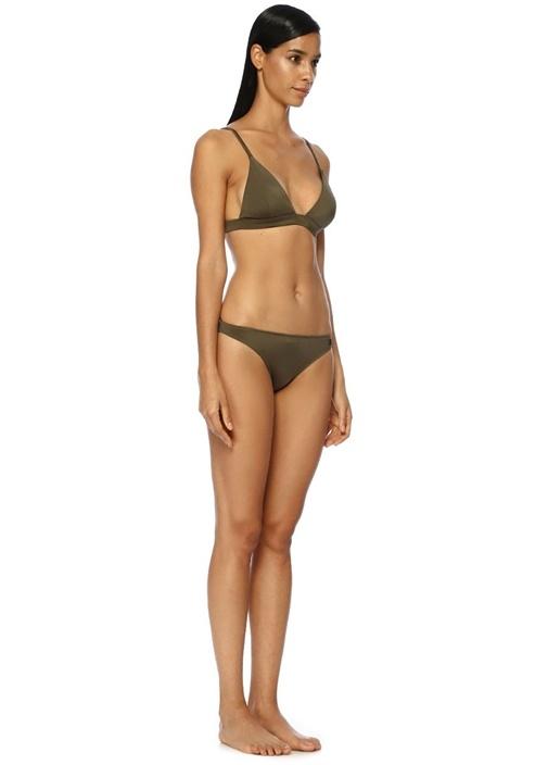 Haki Klasik Üçgen Bikini Takımı