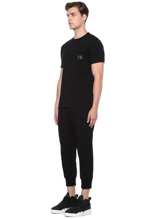 Loose Regular Fit Siyah Aksesuar Detaylı T-shirt