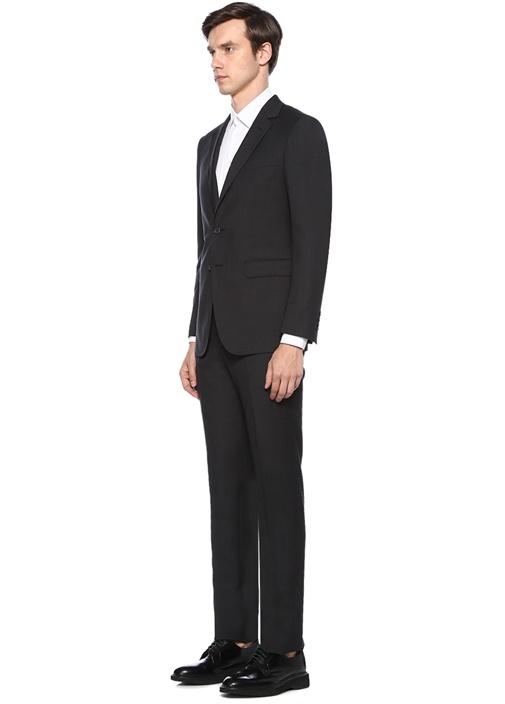 Antrasit Dokulu Yün Takım Elbise