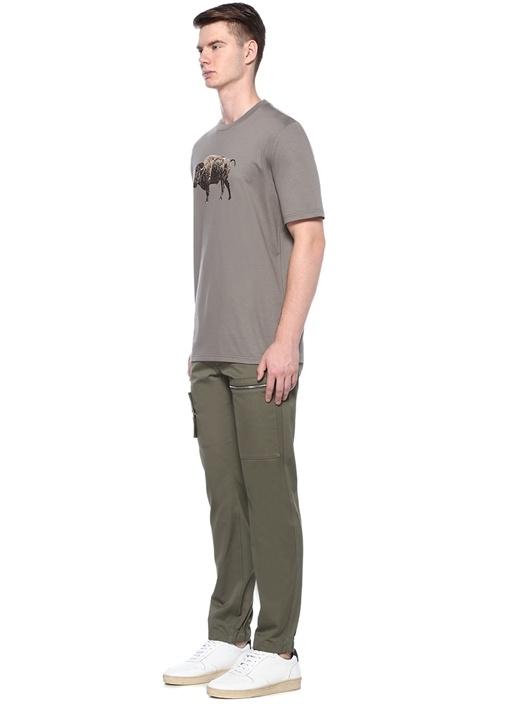 Regular Fit Boğa Baskılı Basic T-shirt