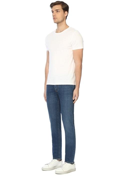 Drop 6 Lacivert Normal Bel Jean Pantolon