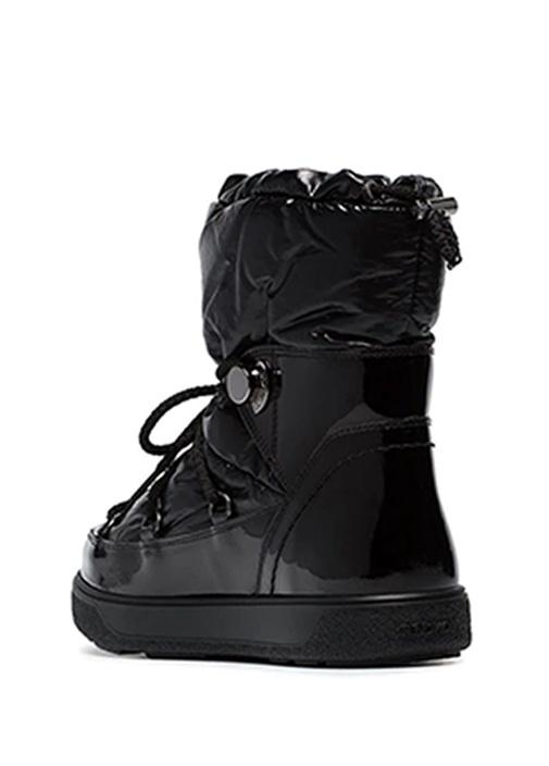 Ynnaf Siyah Kadın Deri Kar Botu