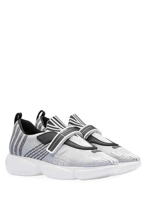 Gri Jakarlı Kadın Sneaker