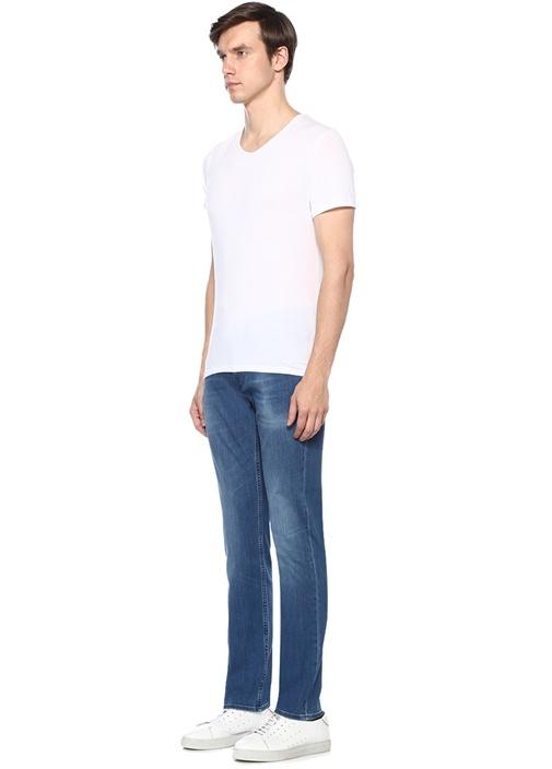 Slimmy Fit Mavi Normal Bel Boru Paça Jean Pantolon