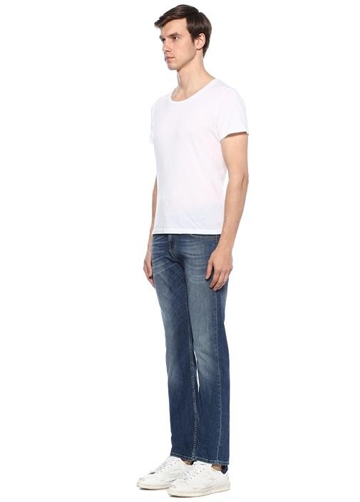 Modern Straight Fit Mavi Normal Bel Jean Pantolon