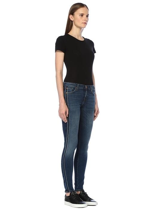 Super Skinny Mavi Normal Bel Dar Paça Jean