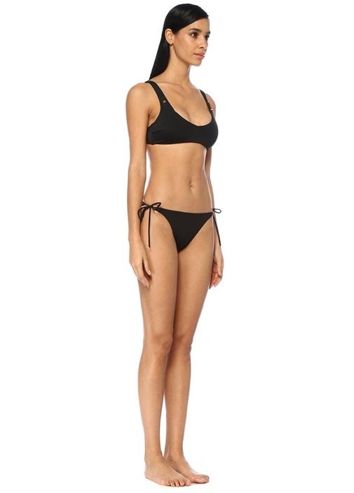 Siyah Yanları Bağcıklı Bikini Altı