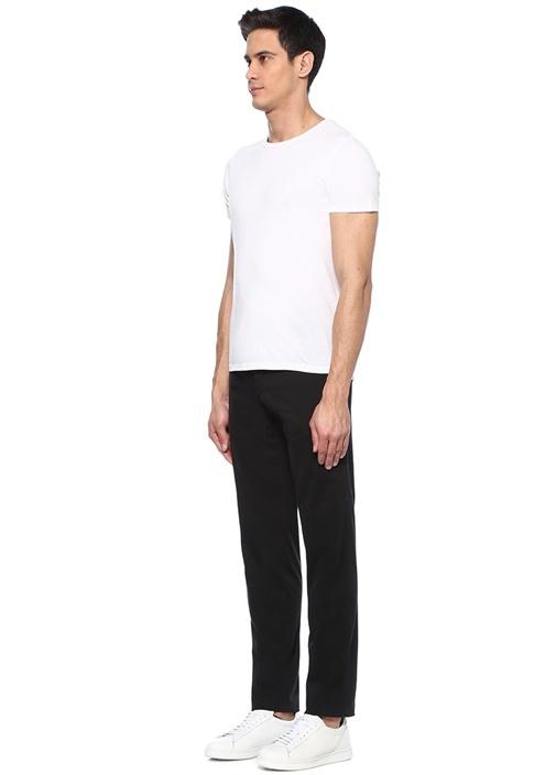 Slim Fit Siyah Normal Bel Boru Paça Pantolon