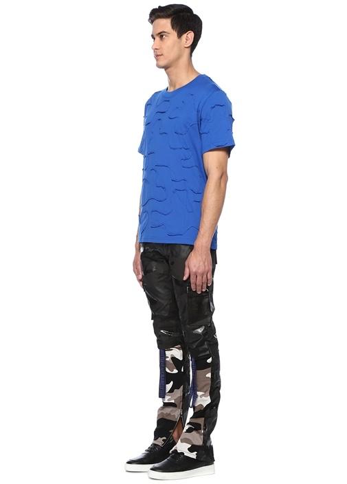 Lacivert Patchli T-shirt