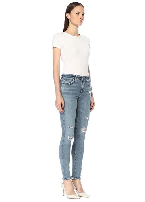 Sophie Yüksek Bel Yıpratmalı Skinny Jean Pantolon
