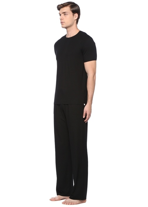 Siyah Bol Paça Pijama Altı