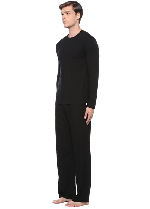 Siyah Basic Uzun Kollu T-shirt