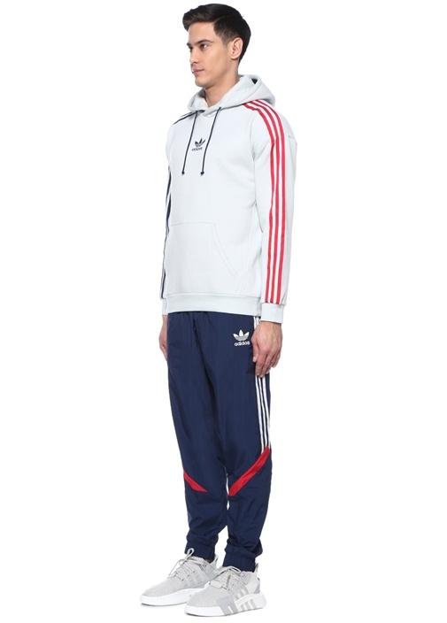 3 Stripe Mavi Logo Nakışlı Sweatshirt