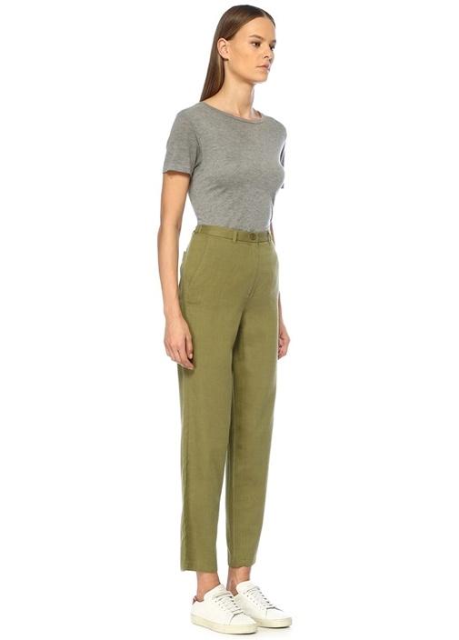 Yayo Yeşil Yüksek Bel Dar Paça Pantolon