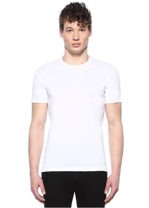 2li Siyah Beyaz Bisiklet Yaka T-shirt Seti