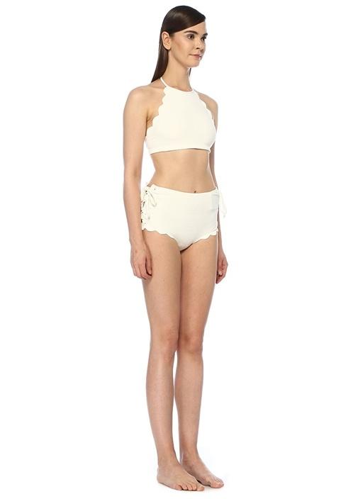 Mott Beyaz Halter Yaka Bikini Üstü