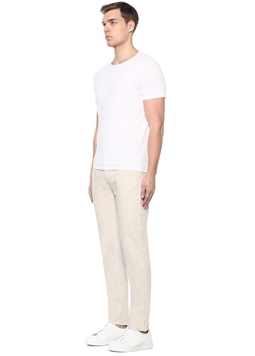 Bej Normal Bel Boru Paça Spor Pantolon