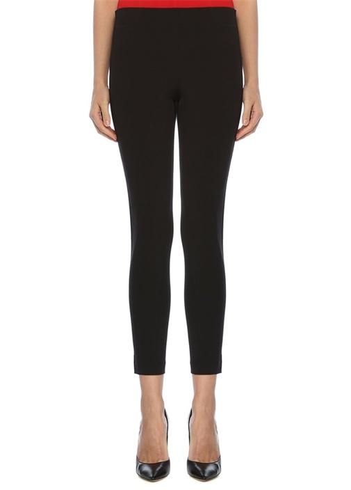 Siyah Normal Bel Şeritli Tayt Pantolon
