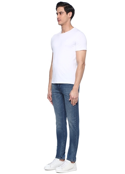 Mavi Dekoratif Dikiş Detaylı Jean Pantolon