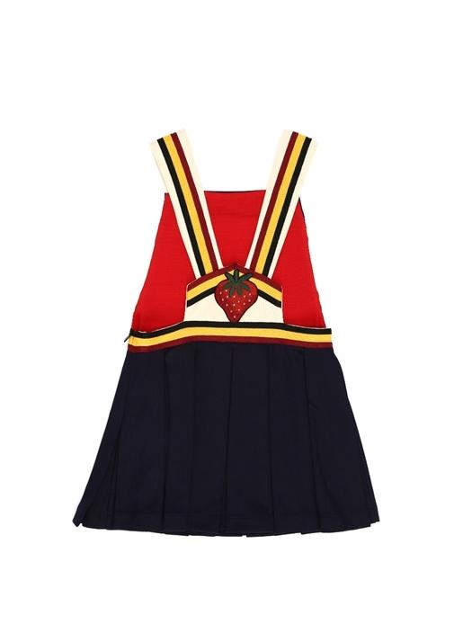 Colorblocked Logo Jakarlı Kız Çocuk Elbise