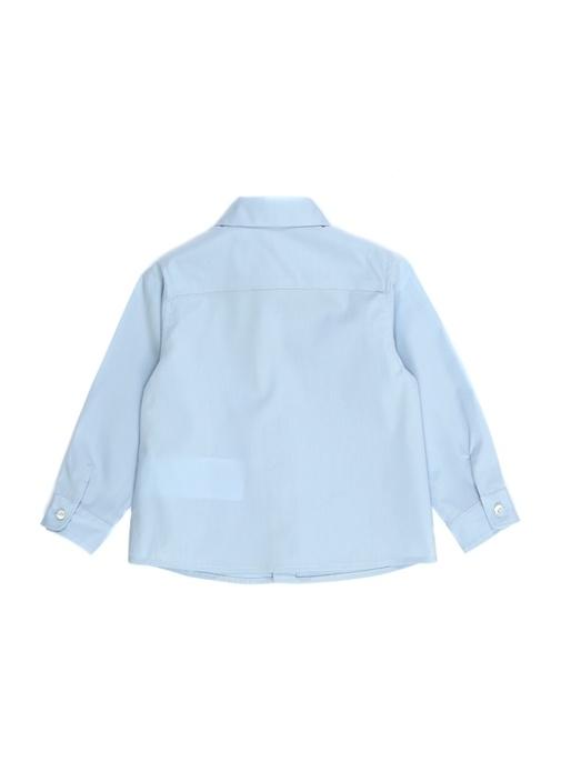 Mavi İngiliz Yaka Erkek Bebek Gömlek