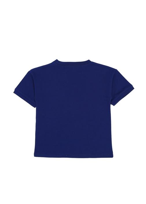 Lacivert Logo Baskılı Erkek Çocuk T-shirt