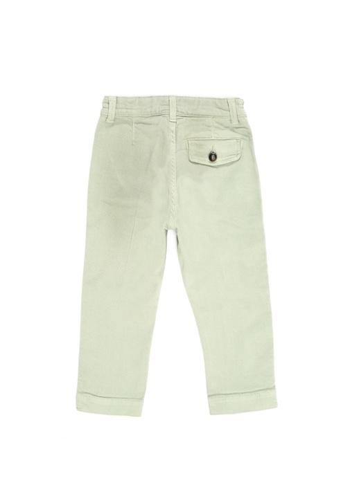 Yeşil Yüksek Bel Erkek Çocuk Jean Pantolon