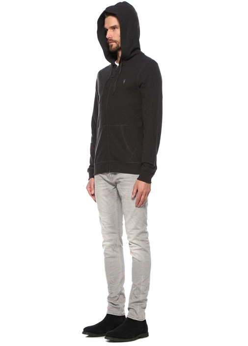 Azua Antrasit Logo Nakışlı Sweatshirt