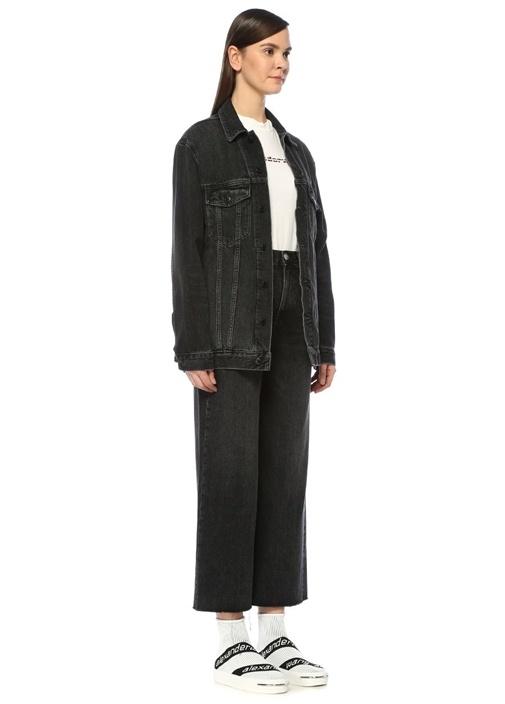 Daze Koyu Gri Oversize Jean Ceket