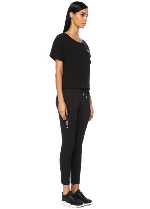 Problem Solver Siyah Kayık Yaka NakışlıT-shirt