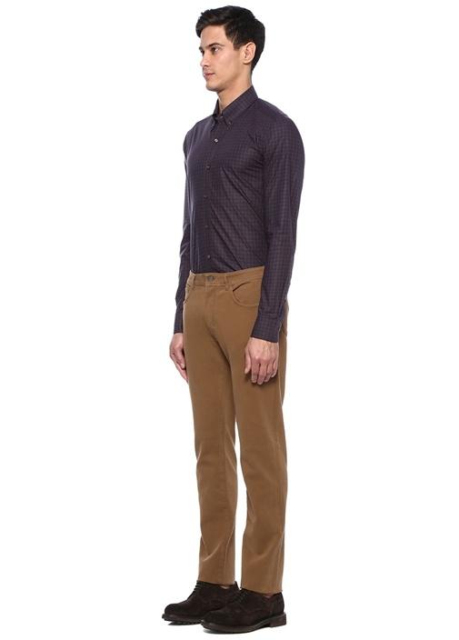 Kahverengi Normal Bel Kanvas Pantolon