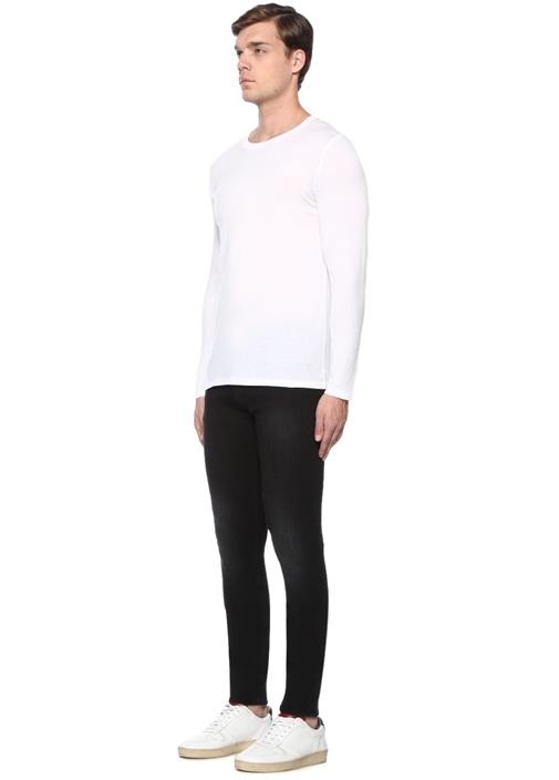 Europe Siyah Normal Bel Jean Pantolon