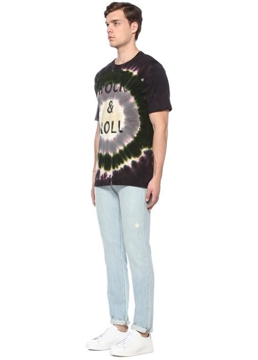 Tobias Siyah Batik Desenli Yazı BaskılıT-shirt