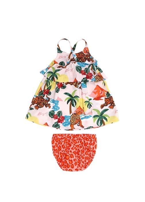 Hawaii Pembe Külot Detaylı Bebek Elbise