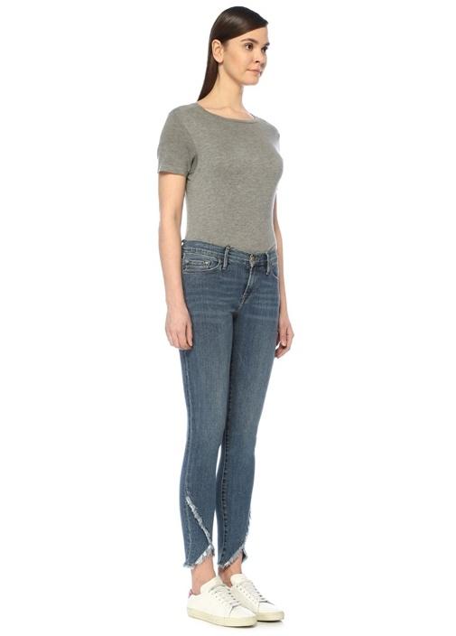 Jeanne Paçası Püsküllü Skinny Jean Pantolon