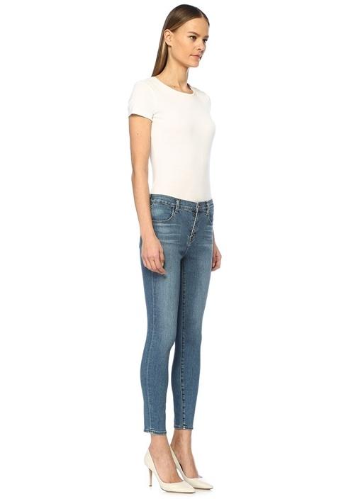 Alana Yüksek Bel Crop Skinny Jean Pantolon