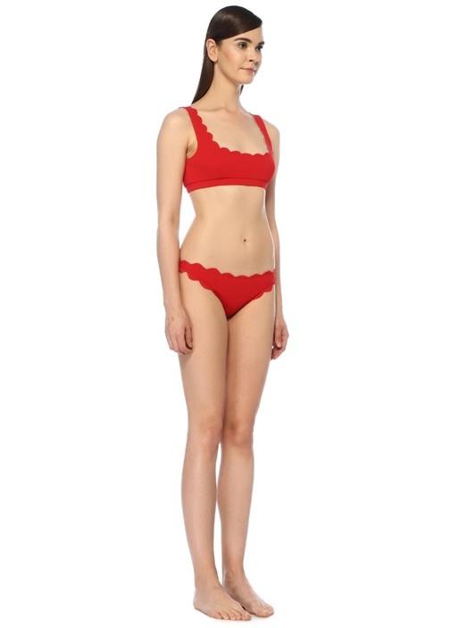 Mini Palm Springs Kırmızı Pötikareli Bikini Üstü