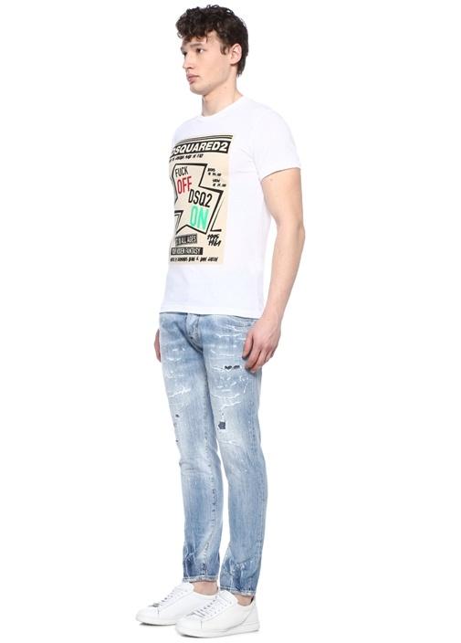 Cigarette Mavi Normal Bel Yıpratmalı Jean Pantolon