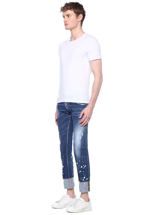 Regular Clement Mavi Düşük Bel Jean Pantolon