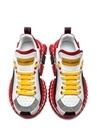 Super Qeeen Kırmızı Beyaz Logolu Kadın Deri Sneake